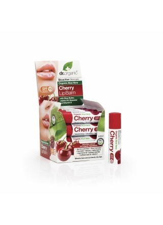 Dr.Organic Aloe Vera Cherry Lip Balm 5.7ml