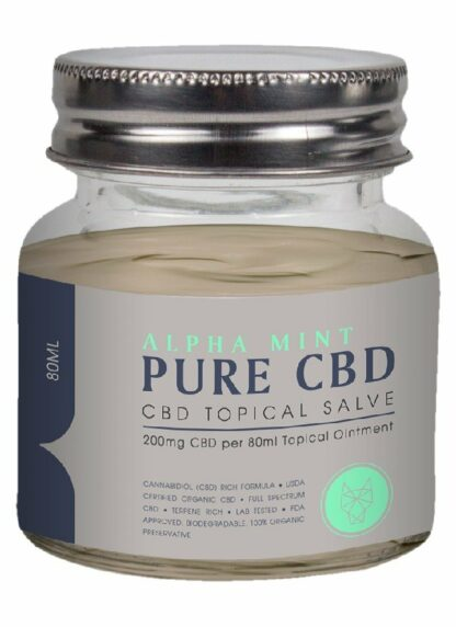 Cannaco CBD Topical Salve Alpha Mint 200mg 80ml