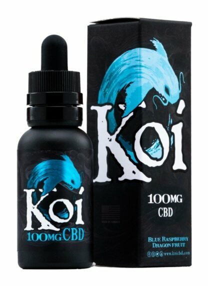 Koi Blue CBD Vape Juice Blue Raspberry Dragon Fruit 100mg 30ml