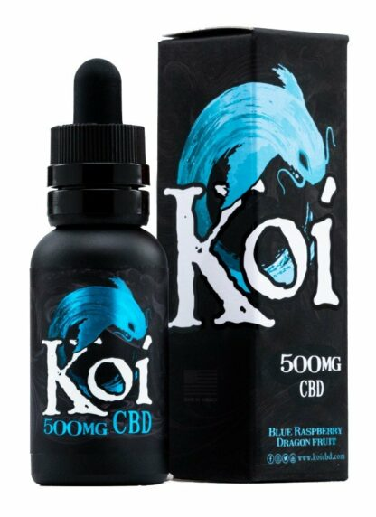 Koi Blue CBD Vape Juice Blue Raspberry Dragon Fruit 500mg 30ml