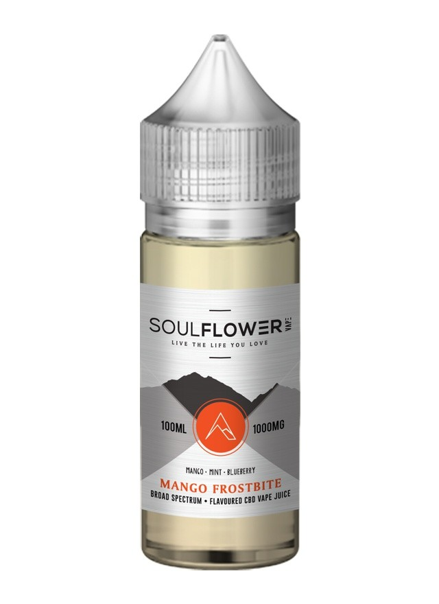 Cannaco Soulflower CBD Vape Juice Mango Frostbite 600mg 100ml